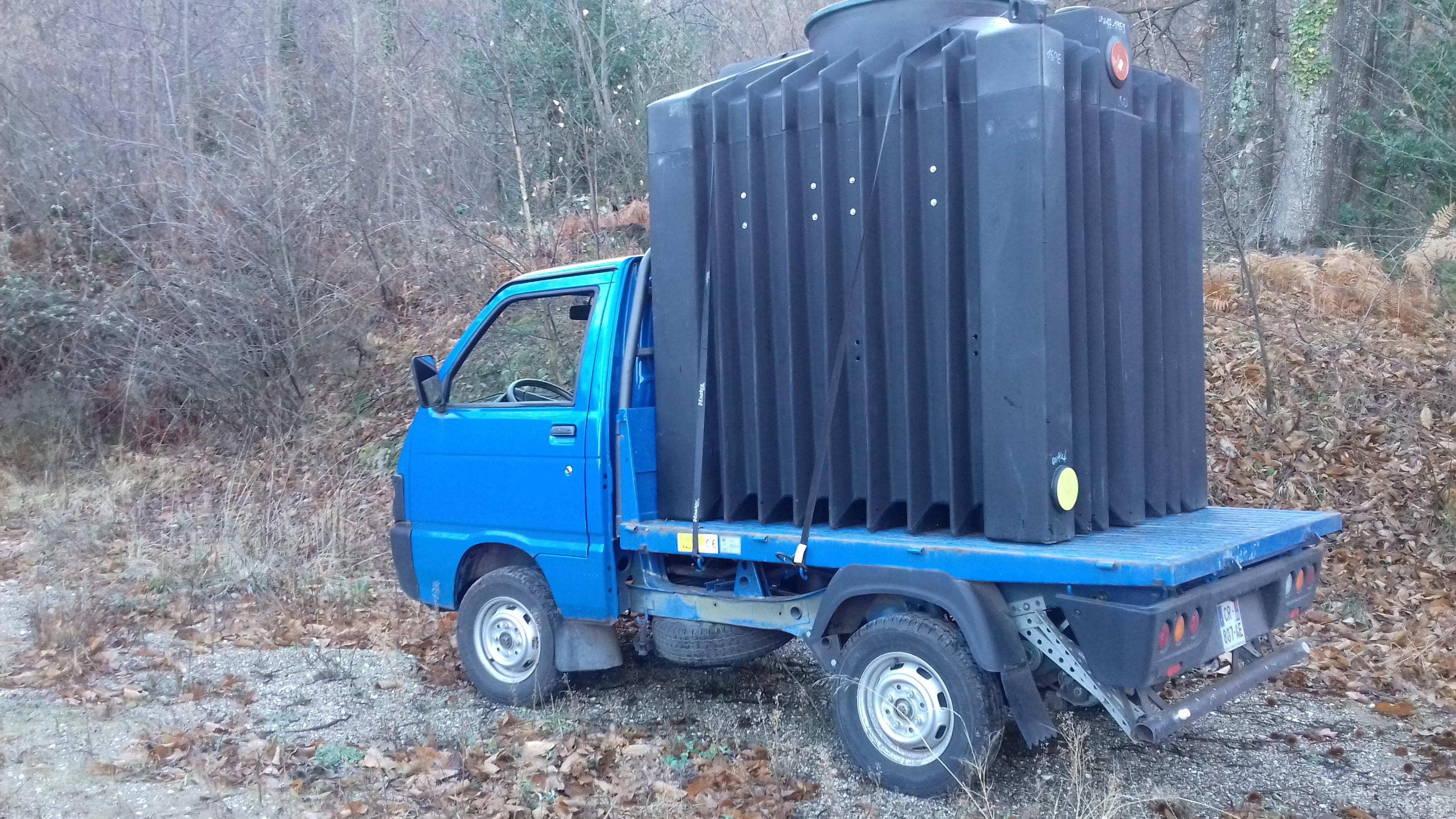 Transport des cuves sur site